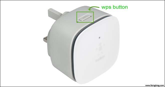 belkin extender wps key