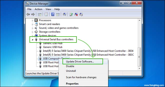 Update USB Driver Software
