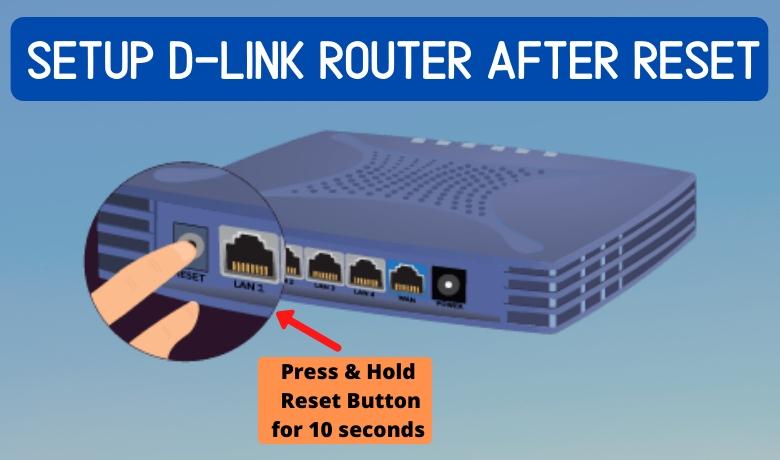 setup dlink router after reset