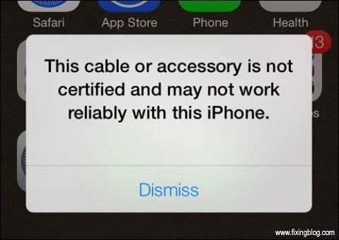 iphone show error