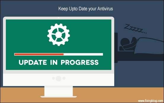 keep uptodate your antivirus