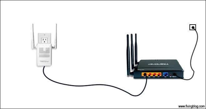 Connect trendnet router to extender