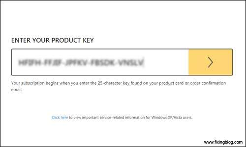 Enter your norton product key