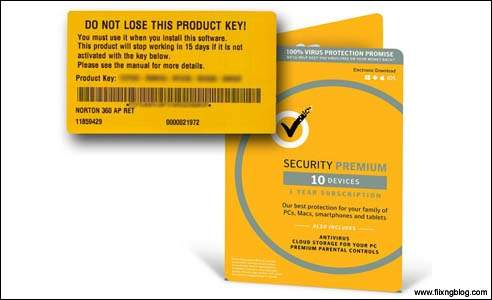 Product key of norton
