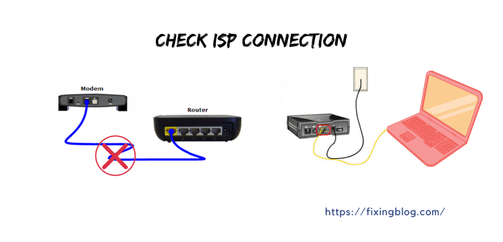 check belkin isp connection