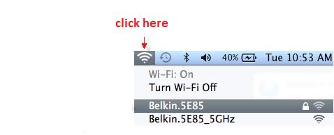 belkin network mac
